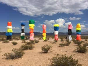 How to Balance Our Lives is displayed in the Nevada desert.