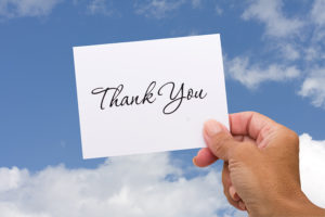 Create a great sales team with 'thank you' notes.